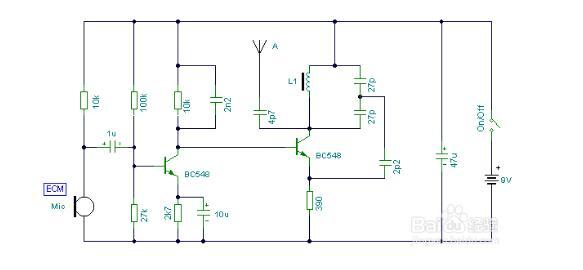 Simple wireless microphone circuit diagram (seven wireless