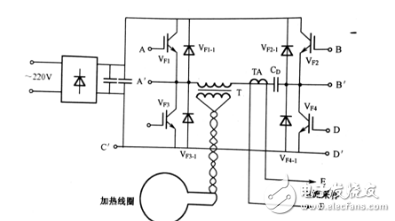 220V induction heating circuit diagram complete (LM339N
