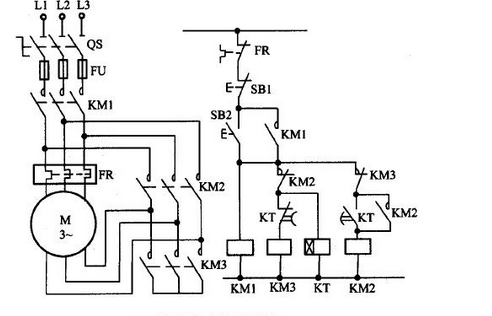 Star delta start circuit diagram forward and reverse star