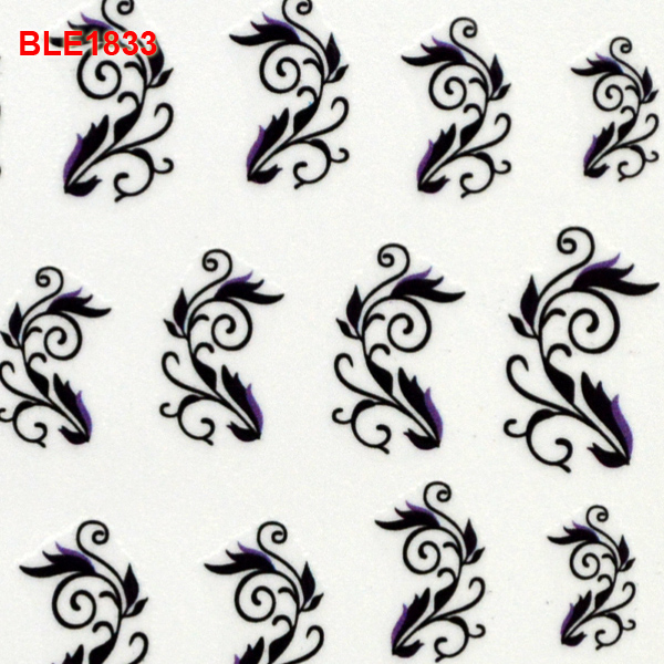3D Nail Art Stickers Decals For Nail Tips Supplies