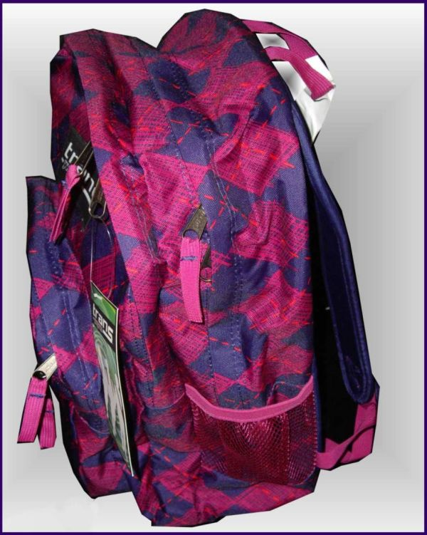 568d0fd57 Backpack Trans Jansport Girls Supermax Electric Purple Pink Argyle Knee High