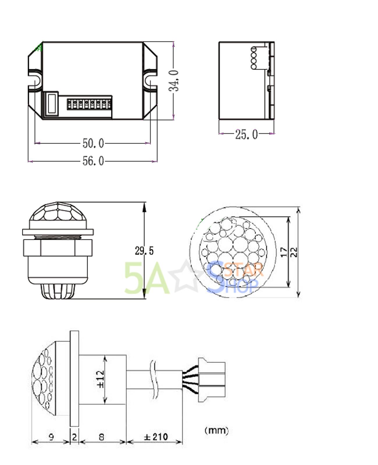 360Degree Recessed PIR Motion Sensor Ceiling Occupancy