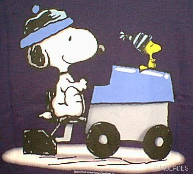 Snoopy and Woodstock really are driving a Zamboni. That isn't my imagination. YES.