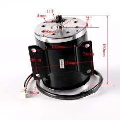 Wheel Chair Motor Early American Styles High Performance 800w 36v Electric For Scooter