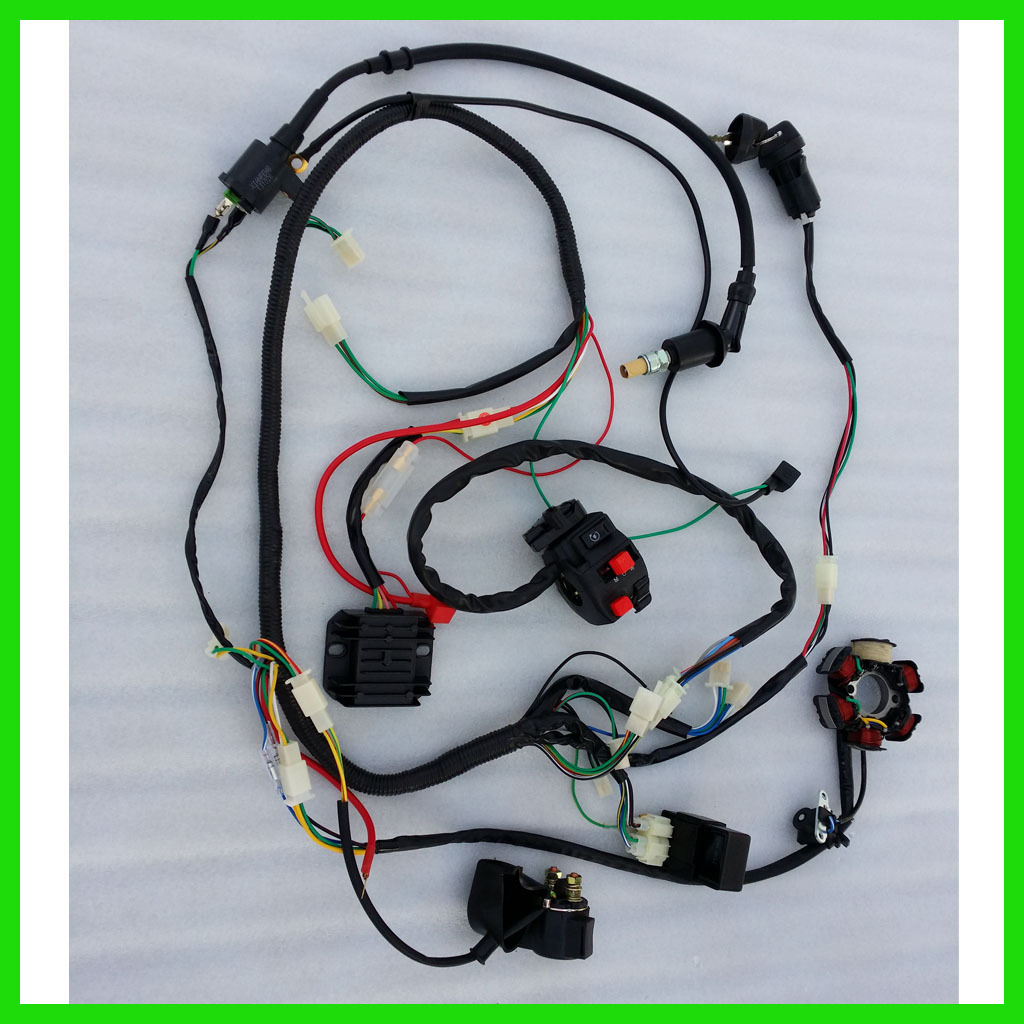 gy6 starter relay wiring gigabit diagram 150cc wire harness assembly atv quad