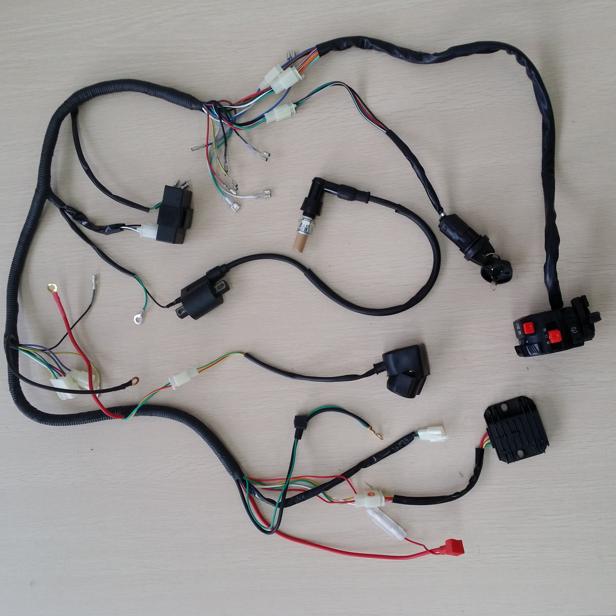 hight resolution of complete electrics atv quad 200cc 250cc cdi wire harness zongshen lifan scooter ebay