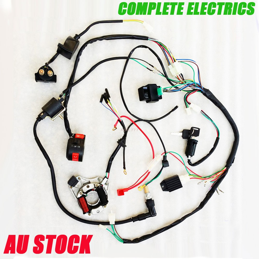 70cc quad bike wiring diagram johnson 115 outboard complete electric wire coil for pit dirt motorcycle 50cc 110cc 125cc | ebay