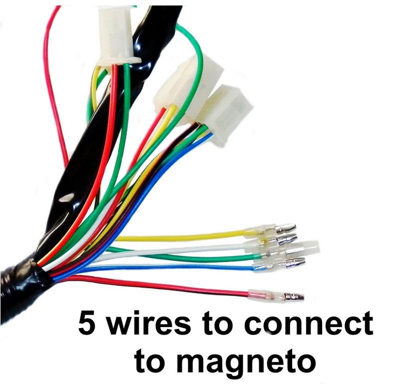 loncin 110cc atv wiring diagram gfci breaker full electrics harness cdi coil 125cc quad bike buggy td | ebay