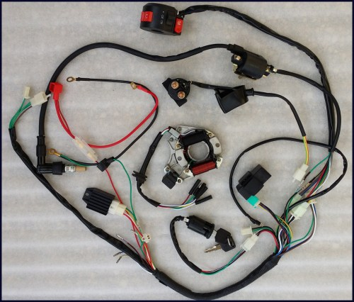 small resolution of autd041 2 full electrics wiring harness cdi coil 110cc 125cc atv lifan