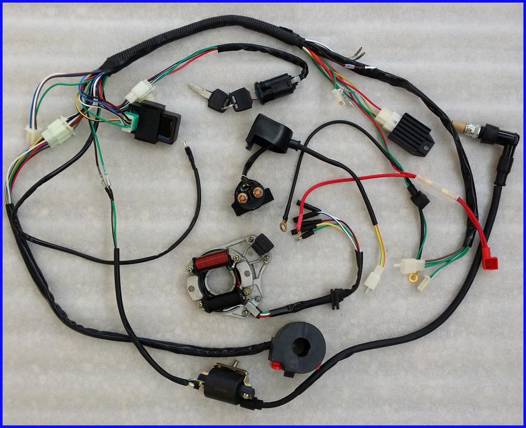 lei quad bike wiring diagram bmw e46 m3 radio complete electrics atv stator 50cc 70cc 110cc 125cc cdi harness harn | ebay
