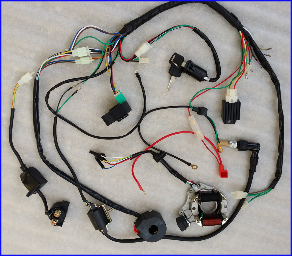70cc quad bike wiring diagram orbital interaction for molecular formation 50 70 90 110cc 125cc wire harness cdi assembly atv
