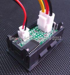 dc 0v 100v 100a dual led digital voltmeter ammeter 5 wires  [ 1200 x 1180 Pixel ]