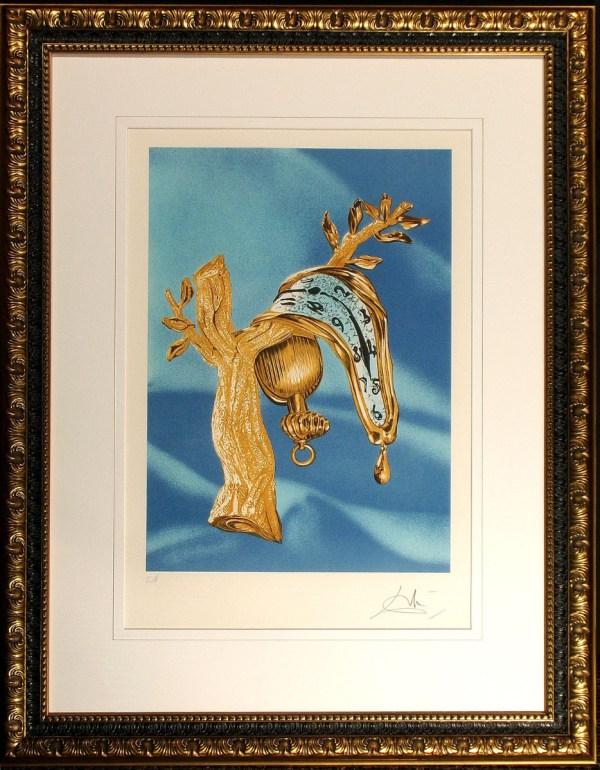 Salvador Dali Melting Clock Custom Framed Lithograph