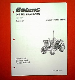 bolens iseki diesel tractor model 1704h h174 hydrostatic service and repair manual [ 768 x 1024 Pixel ]