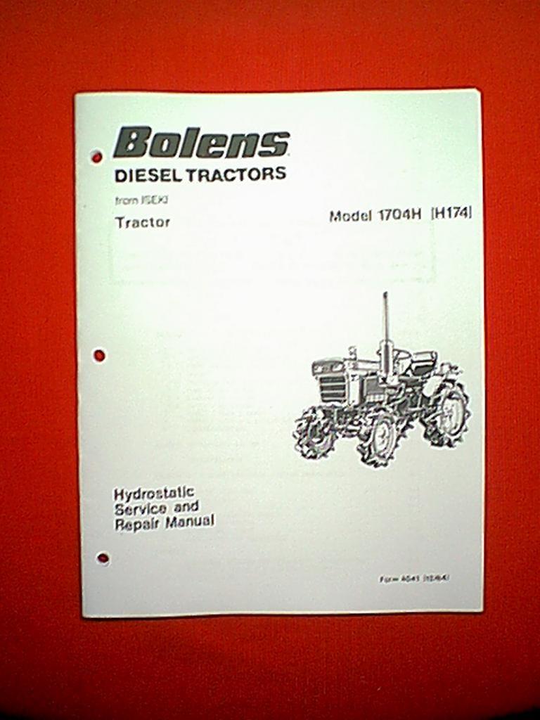 medium resolution of bolens iseki diesel tractor model 1704h h174 hydrostatic service and repair manual