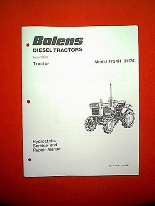 small resolution of bolens iseki diesel tractor model 1704h h174 hydrostatic service and repair manual