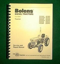 new spiral bound bolens iseki diesel 2 4 wheel drive tractors models ts1910 g192  [ 768 x 1024 Pixel ]