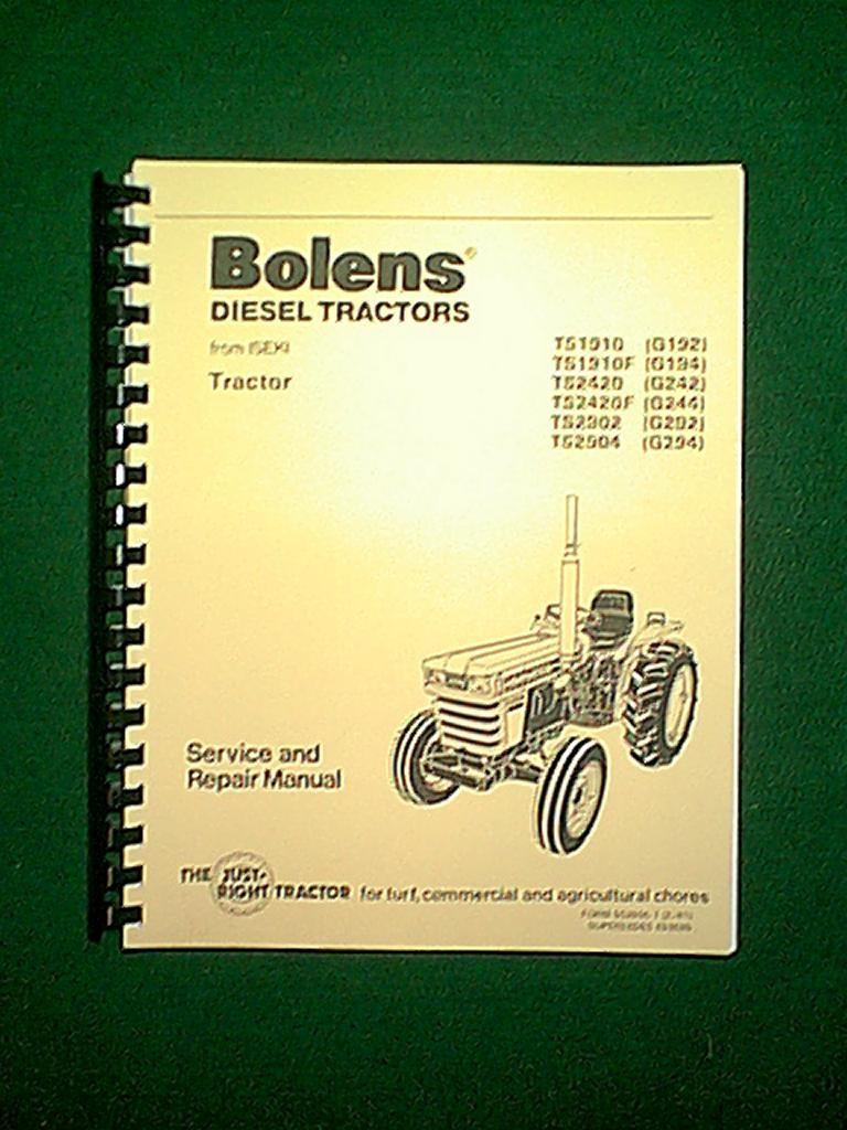 medium resolution of new spiral bound bolens iseki diesel 2 4 wheel drive tractors models ts1910 g192