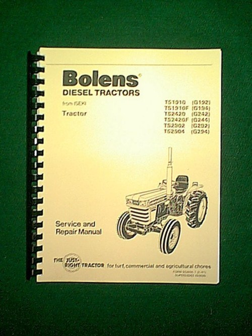 small resolution of new spiral bound bolens iseki diesel 2 4 wheel drive tractors models ts1910 g192