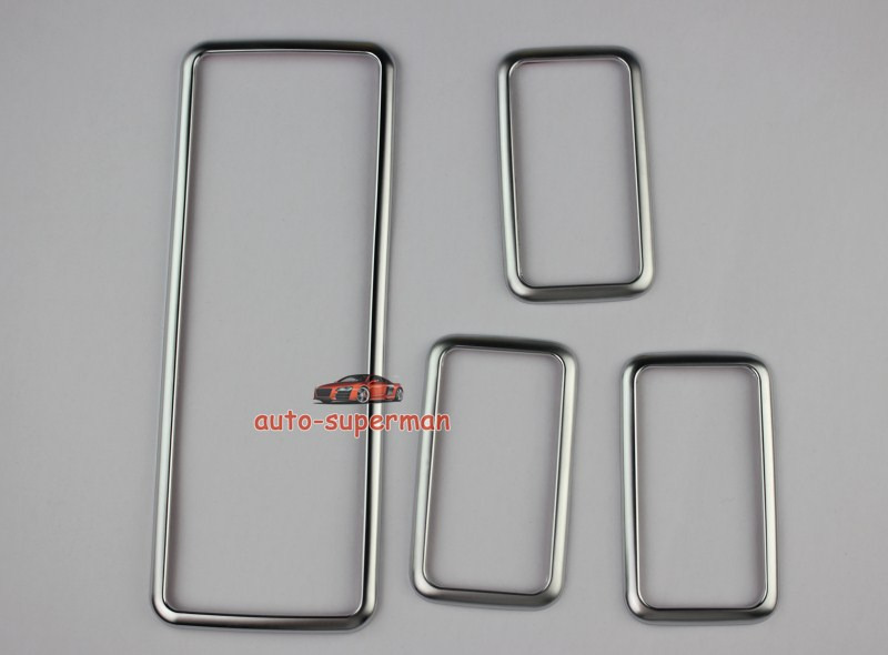 Chrome Door Window Switch panel frame cover trim For Range