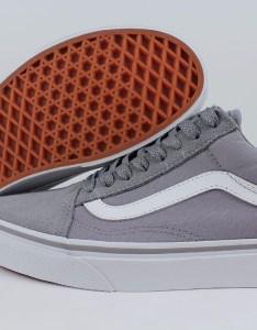 Details about vans old skool frost gray true white suede canvas skate sk low us men size also rh ebay