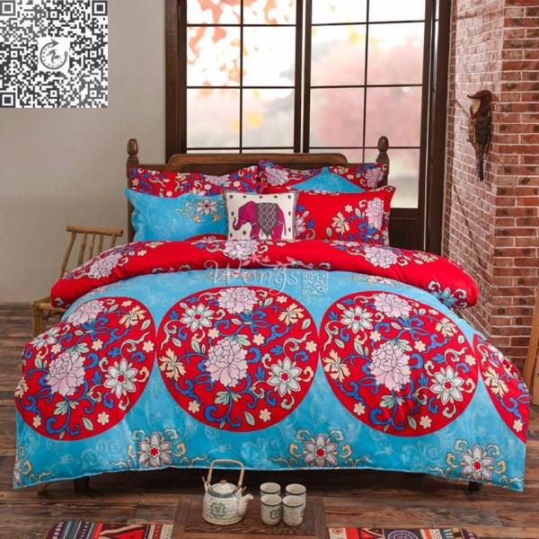 Oriental Mandala Quilt Doona Cover Set Queen Size Pillow