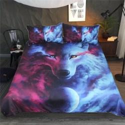 Galaxy Wolf Duvet Cover Set Pillow Case Twin Full Queen King Bedding Animal Cute eBay