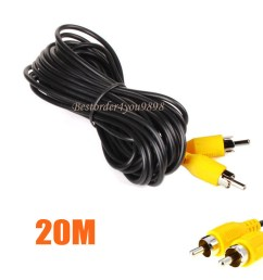 details about 65ft 20m av to av rca to rca av reverse camera video extension cable for bus tru [ 1000 x 1000 Pixel ]