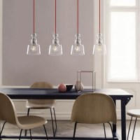 Modern Curve Glass Shade Pendant Lamp Kitchen House Cafe ...