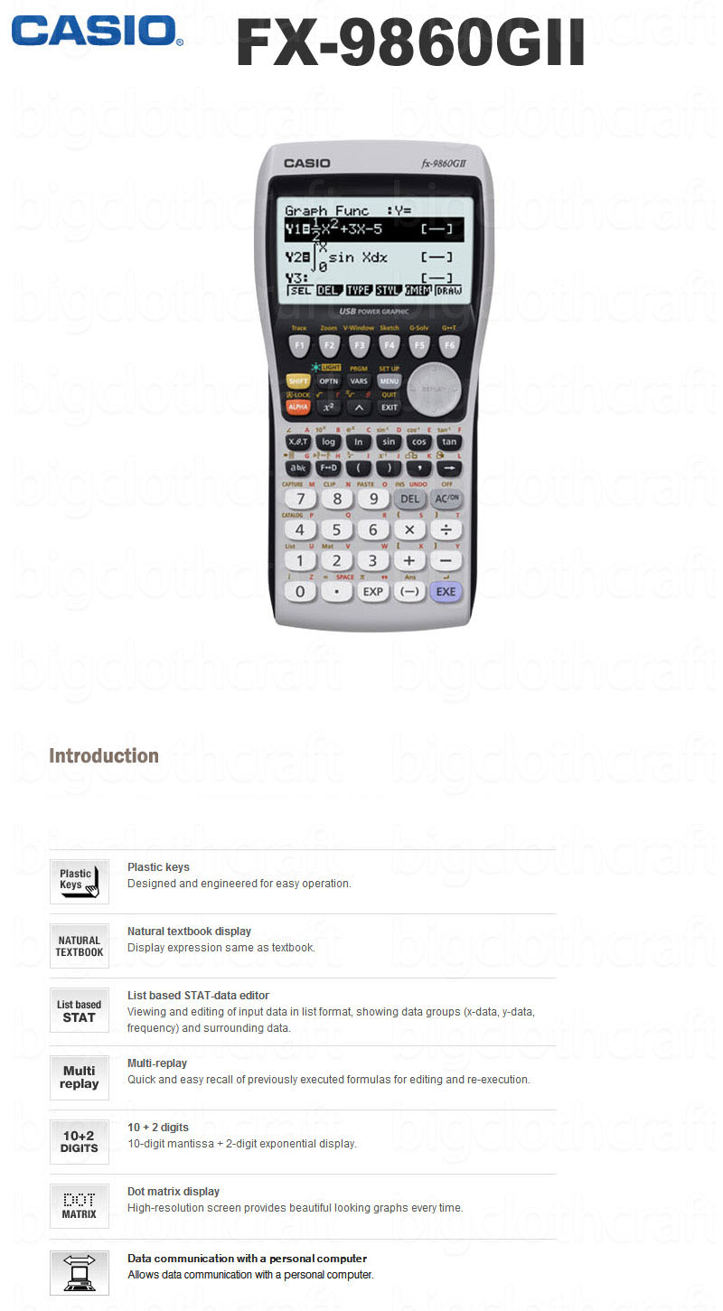 Casio Scientific Programable Graphic LED Calculator FX