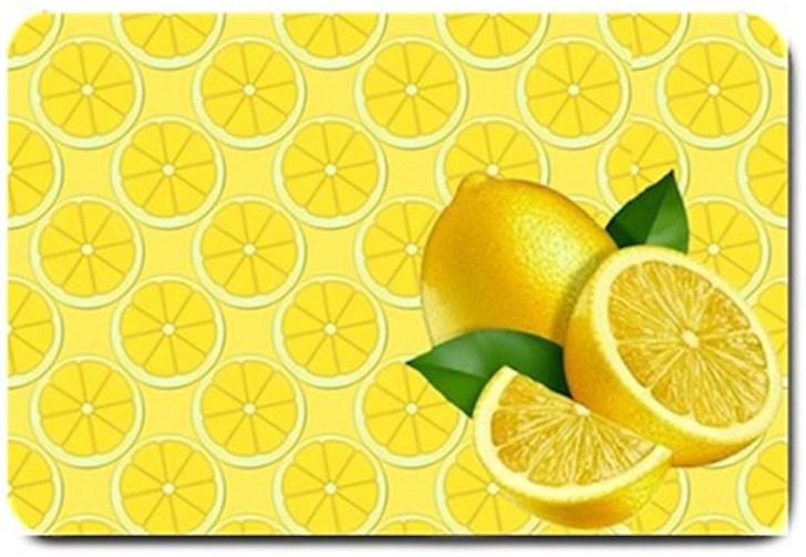Yellow Lemon Design Indoor Room Doormat Mats Rug Kitchen