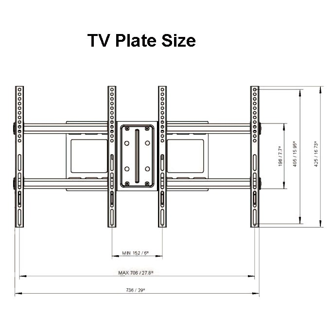Articulating TV Wall Mount Bracket 39 40 42 47 50 55 60 65