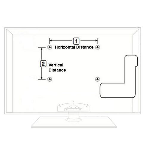 Low Profile TV Monitor Wall Mount for VIZIO LG Samsung 24