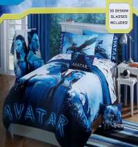 AVATAR JAKE SULLY AND NEYTIRI 3-D BLUE FULL COMFORTER ...