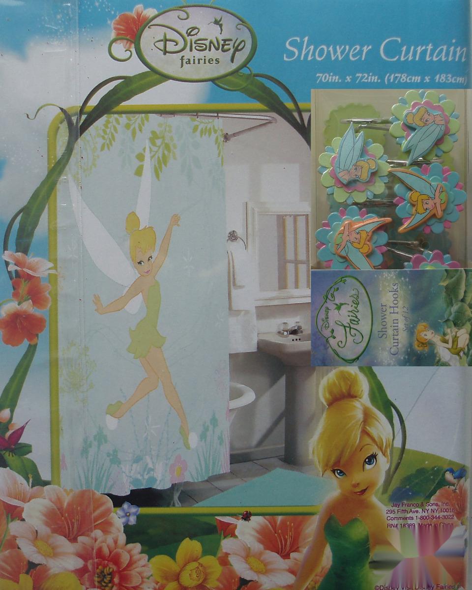 Bath Disney Princess Tinkerbell Lavender Fabric Shower