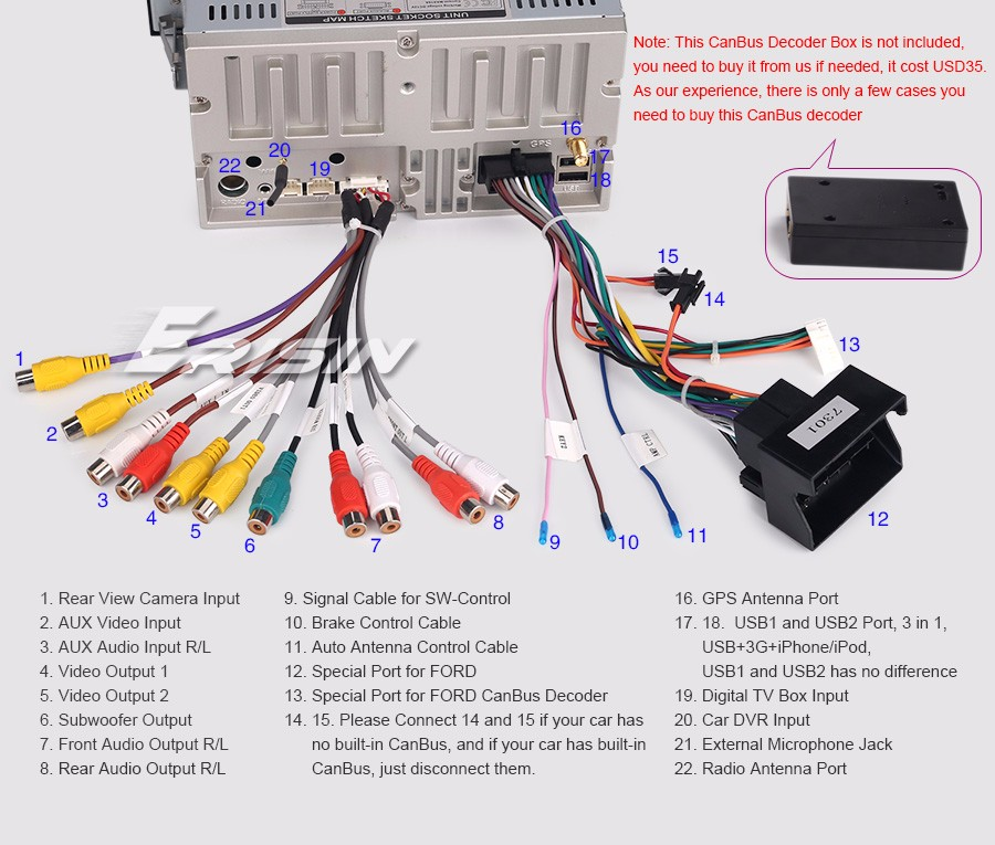 xtrons car stereo wiring diagram ford f250 online android 7.1 dvd player gps focus fiesta transit kuga s/c-max dab | ebay