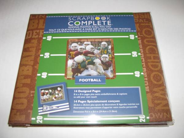Gibson Football Scrapbook Complete Kit 14 Designed