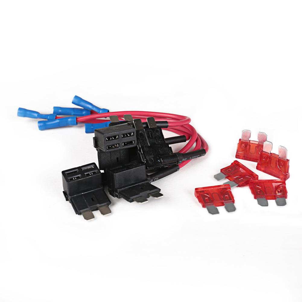 Add A Circuit Fuse Tap Piggy Back Blade Fuse Holder Ebay