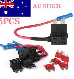 5pcs car add circuit 10a acu piggy back tap standard blade fuse box holder au [ 1001 x 1001 Pixel ]