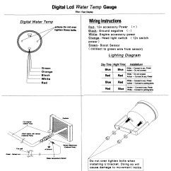 Autotecnica Water Temp Gauge Wiring Diagram Spotlight Electricity Site Bluered 2 52mm Digital Led Evo Temperature Oil Press