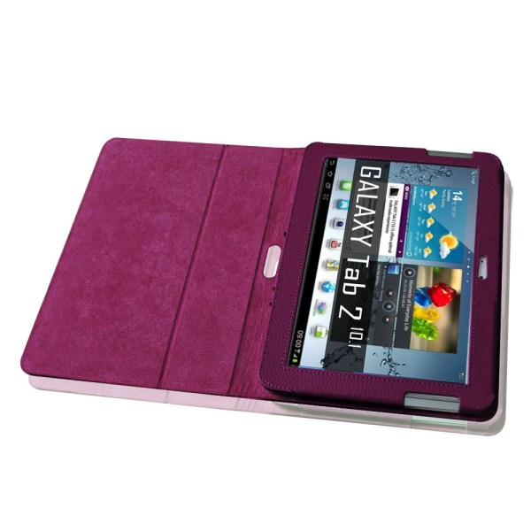Samsung Galaxy Tab 2 10.1 Tablet Folio Leather Case Cover Protector Stylus