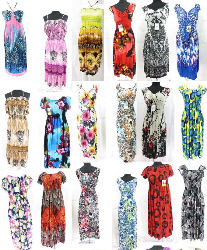 100 pcs wholesale bohemian short dresses maxi long dresses bulk cheap  eBay