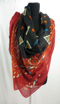 Southwestern triangle design cheap scarves for women large ...