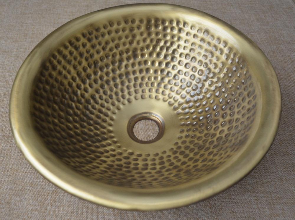 details about hand hammered moroccan brass sink bathroom sink 14 5 diameter vessel sink