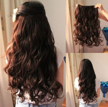 long straight curly wavy hair extension clip in hair extensions 5 clips 4 colors ebay