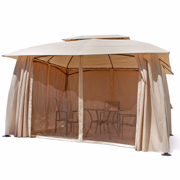 Outdoor Home 10' X 13' Backyard Garden Awnings Patio Gazebo Canopy Tent Netting 826648298308