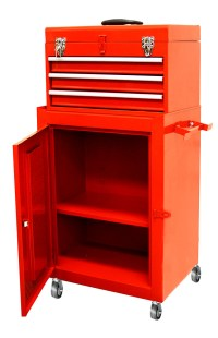 Top Chest w/ 3 Sliding Rolling Cabinet Tool Storage Chest ...