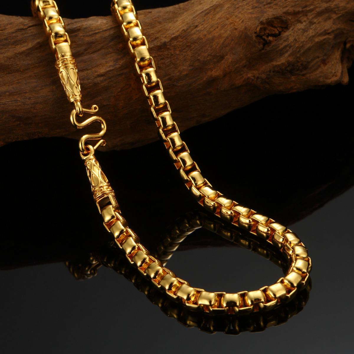 24K Goldkette Ketten gold Halskette massiv Panzerkette