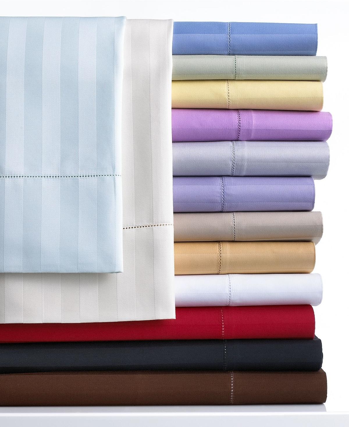 Charter Club 500 Thread Count Damask Stripe Queen Sheet