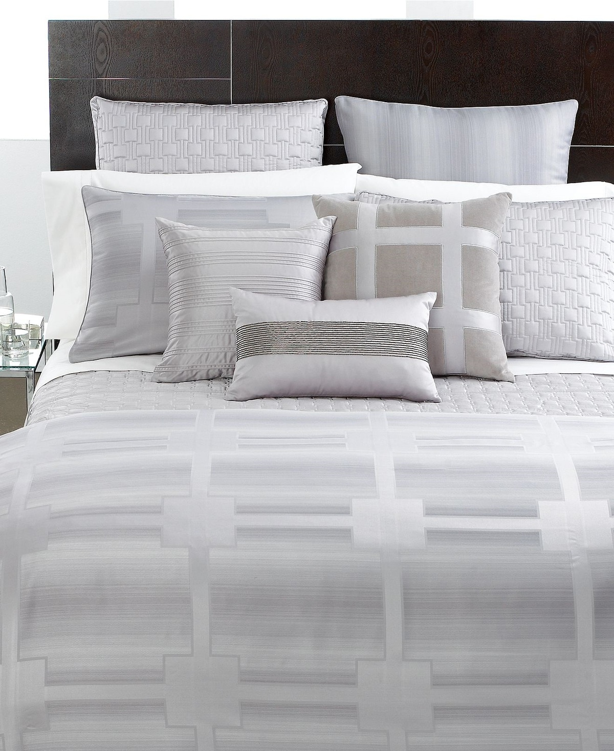 HOTEL COLLECTION MERIDIAN FULL  QUEEN Duvet Cover  STANDARD Shams Set
